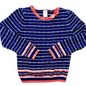 Gymboree Chain Link Navy & Red Sweater